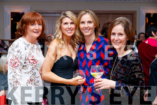 Joan Hickey, Grace Davoren, Olivia O'Rahilly and Patricia Griffin, enjoying Sickly Come Dancing, UHK, at Ballygarry House Hotel & Spa, Tralee on Friday night last.