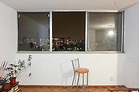 D-813 Sandra Argüello. The interior livingroom windows of apartments in the Chihuahua building of Tlatelolco. Mario Pani´s Tlatelolco, plaza de las 3 culturas, Mexico DF