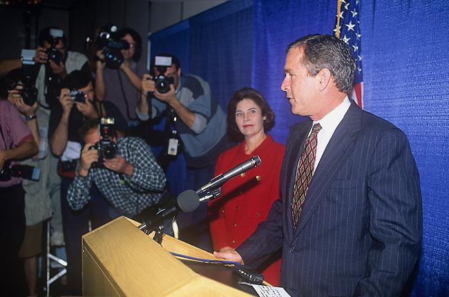 Governor George W. Bush and Laura Bush, Photographers