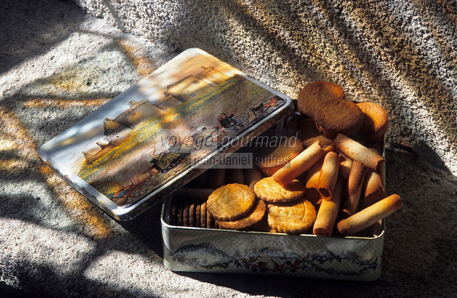 Europe/France/Bretagne/56/Morbihan/Presqu'île de Rhuys: Boîte de biscuits bretons