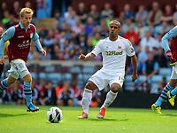 Saturday 15 September 2012<br /> Pictured: Wayne Routledge of Swansea.<br /> Re: Barclay's Premier League, Aston Villa v Swansea City FC at Villa Park, West Midlands, UK.