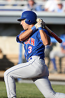June 21st, 2007:  Darin Mastoianni of the Auburn Doubledays, Class-A affiliate of the Toronto Blue Jays at Dwyer Stadium in Batavia, NY.  Photo by:  Mike Janes/Four Seam Images