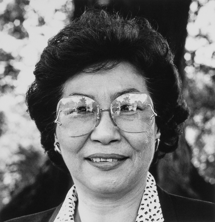 Rep. Pat Saiki, R-Hawaii, on Sep. 25, 1989. (Photo by Maureen Keating/CQ Roll Call)