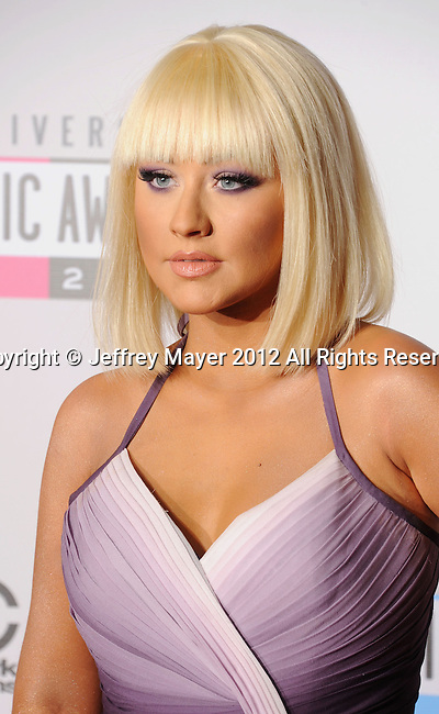 LOS ANGELES, CA - NOVEMBER 18: Christina Aguilera attends the 40th Anniversary American Music Awards held at Nokia Theatre L.A. Live on November 18, 2012 in Los Angeles, California.