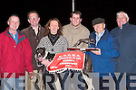 Champion Dog of the Frightful Flash Kennells/K.G.O.B.A Sweep Final with his owney who were presented with the Sweep Final Trophy by Dick O'Sullivan on Saturday night. l-r: Denis and Marie Sheehan,Declan Dowling,Maurice Hartnett, Dick O'Sullivan, Marie and Brendan Hartnett. .What a win by Kielduff Lady No 6 in the Frightful Flash Kennells/K.G.O.B.A Sweep Final at the Kingdom Greyhound Stadium, Tralee on Saturday night. .RACES: Having a great night at the Kingdom Greyhound Stadium, Tralee on Saturday night. Front l-r: Sarah Cooper,Clo?dagh Foley and Shauna O'Sullivan, back l-r: Tracey Hurley,Carol Hurley and Jonna Foley.Celine, daughter of Rita and Paddy O'Riordan, Coolnahane, kanturk and Tim, son of Sheila and Con Lehane, Aubone, Milstreet, who were married on Saturday at St patrick's Church, Milstreet by Fr Gerard O'Leary. Best man was John Lehane brother of the groom, and groomsmen were Gerard O'Riordan and Patrick O'callaghan. Bridesmaids were Emma O'Riordan sister of the bride, Marie O'Callaghan and Tracey Lehane. Flowergirls were Chelesa -Robyn Sheehan and Megan and Liah Linnane. Pageboys were Dylan Sheehan and Jack Kelleher. The reception was held at Ballygarry House Hotel & Spa, Tralee. The couple will reside Milstreet. .Carmel, daughter of margaret and Paddy Bynane, Derrymore East, Tralee, and Fergus, son of mary and the late Mick Hogan, Crinkle, Birr. who were married on saturday at St Brendan's Church, Curraheen, Tralee, by Fr Michael O'Leary. Best man was Ken Ryan. Bridesmaid was Marian Bynane. Flowergirls were Tara Ashe and Fiona Bynane Power. Reception was held at The Earl of Desmond Hotel, Tralee..PREPARING: preparing to go out on the seach for missing man were members of civil defence from kerry and dog handler Eddie Mongimer. civil defence members were: Damien Culhane, Niall Brosnan and Brian Carbine..HEADQUARTERS: Getting maps together in the search for , at Ballyheigue Community Centre on Saturday were members of Ballybunion Sean Rescue and Civil De
