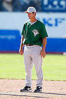 July 16, 2009:  Manager Jeff Garber of the Vermont Lake Monsters during a game at Russell Diethrick Park in Jamestown Jammers, NY.  The Lake Monsters are the NY-Penn League Short-Season Class-A affiliate of the Washington Nationals.  Photo By Mike Janes/Four Seam Images