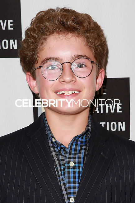 LOS ANGELES, CA, USA - OCTOBER 21: Sean Giambrone arrives at The Creative Coalition's 'Art of Discovery' Los Angeles Launch Party held at the Home of Lawrence Bender on October 21, 2014 in Los Angeles, California, United States. (Photo by David Acosta/Celebrity Monitor)