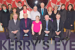 Retirements - Five teachers from Tralee Community College (seated l/r) Don Phelan from Ballybunion, Sean Thornton from Lixnaw, Sally O'Callaghan from Gallowsfield, John Joe O'Flaherty from Abbeydorney and Michael O'Donnell from Derrylea pictured with family at their retirement party, also attended by a large group friends and former colleagues in The Ballyroe Heights Hotel on Friday night. Standing l/r Orla Thornton, Aoife Thornton, Mary Phelan, Barry O'Donnell, Jody Thornton, Stephen O'Callaghan, Billy Curtin (Principle), Noreen O'Flaherty, Mary, Aoife & Fiona O'Donnell..................................................................................................................................................................................................................................................................................... ............