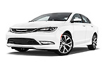 Stock pictures of low aggressive front three quarter view of2015 Chrysler 200 C 4 Door Sedan Low Aggressive