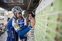 Sign-on for Tom Boonen (BEL/Quick-Step Floors) in his last ever (farewell) race on Belgian soil which starts in his hometown of Mol. <br />  <br /> 105th Scheldeprijs 2017 (1.HC)<br /> 1 Day Race: Mol &rsaquo; Schoten (BEL/202km)