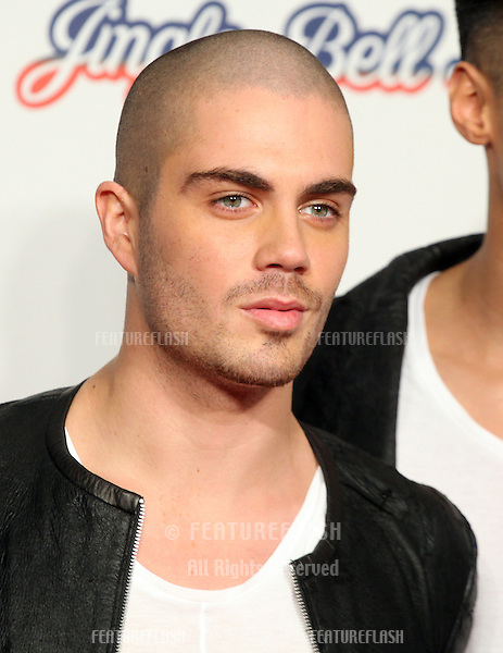 Max George from The Wanted arriving for the Capital Radio Jingle Bell Ball, O2 Arena, London. 09/12/2012 Picture by: Alexandra Glen / Featureflash