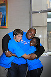 "One Life To Live Shenell Edmonds ""Destiny"" poses with Sean Ringgold and Andrew Trischitta at the 9th Annual American Cancer Society on October 7, 2012 at Bowlmor Lanes Times Square, New York City, New York.  (Photo by Sue Coflin/Max Photos)"