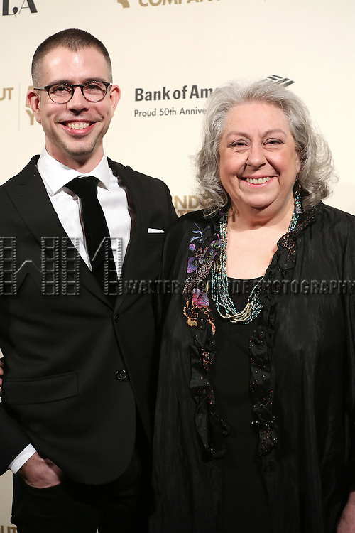 Stephen Karam and Jane Houdyshell attends the Roundabout Theatre Company's  50th Anniversary Gala at The Waldorf-Astoria on February 29, 2016 in New York City.