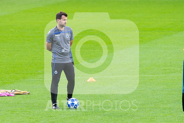 Club Brujas coach Ivan Leko during training session the day before Group Stage UEFA Champions League match between Atletico de Madrid and Club Brujas at Wanda Metropolitano Stadium in Madrid, Spain. October, 2018. (COOLMEDIA/BorjaB.Hojas)