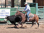 Chad Edgemon competes in the Ranch Horse Class at the Minden Ranch Rodeo on Saturday, July 21, 2012..Photo by Cathleen Allison