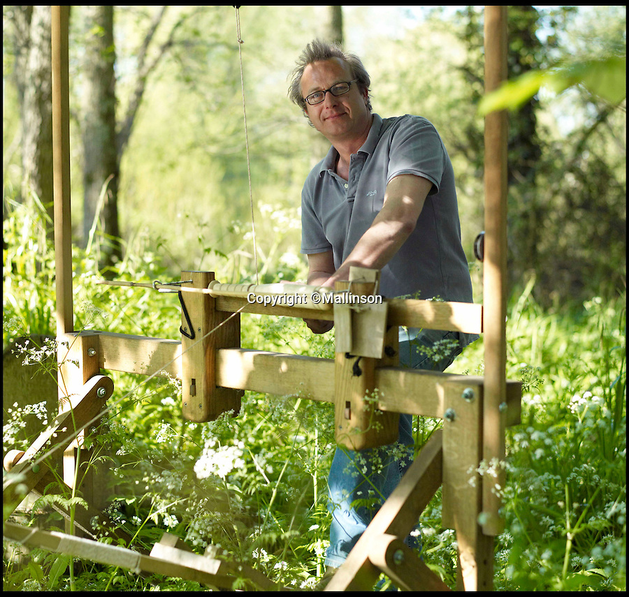BNPS.co.uk (01202 558833)<br /> Pic: Mallinson/BNPS<br /> <br /> Creator Guy Mallinson.<br /> <br /> Release your inner Tarzan...in Britain's poshest treehouse.<br /> <br /> A luxury glamping site in deepest Dorset has created a luxurious treehouse that comes with its own sauna, hot tub, rotating fireplace and pizza oven.<br /> <br /> The Woodsman's Treehouse is perched 30ft from the ground on long stilts and has two floors. <br /> <br /> It has a spiral staircase and a stainless steel slide for quick access to the ground and can be rented out from £390 a night. <br /> <br /> It is located at the Crafty Camping glamping site at Holditch in west Dorset.