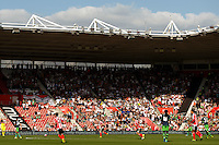 Swansea City fans during the Barclays Premier League match between Southampton v Swansea City played at St Mary's Stadium, Southampton