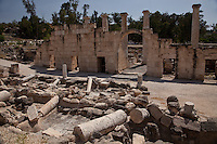Bet Shean (Scythopolis) is the most magnificent archeological site in Israel.  Excavations show 18 levels of occupation from the 4th century B.C. onward.