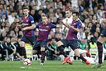 (L-R) Real Madrid CF's Gareth Bale  and FC Barcelona's Clement Lenglet, Arthur Melo, Sergio Busquets during La Liga match. March 02,2019. (ALTERPHOTOS/Alconada)