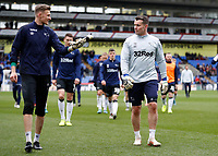 5th January 2020; Selhurst Park, London, England; English FA Cup Football, Crystal Palace versus Derby County; Derby County Goalkeeper Coach Shay Given talking to Goalkeeper Henrich Ravas of Derby County - Strictly Editorial Use Only. No use with unauthorized audio, video, data, fixture lists, club/league logos or 'live' services. Online in-match use limited to 120 images, no video emulation. No use in betting, games or single club/league/player publications