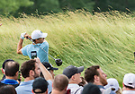 CROMWELL, CT. 20 June 2019-062019 - PGA Tour player Jordan Spieth hits his tee shot on the par 4 third hole, during the first round of the Travelers Championship at TPC River Highlands in Cromwell on Thursday. Bill Shettle Republican-American