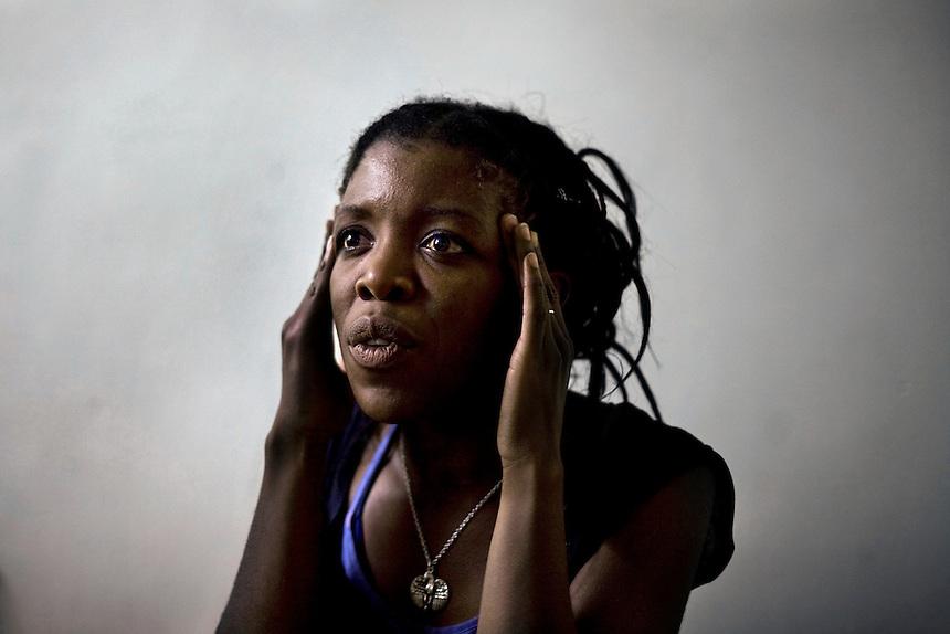 Tina Ngondo, a tenant of the Alexandra Court Temporary Hostel in Hackney.