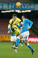 Stevan Jovetic  during the Quartef-final of Tim Cup soccer match,between SSC Napoli and vFC Inter    at  the San  Paolo   stadium in Naples  Italy , January 19, 2016