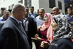 Palestinian Prime Minister Rami Hamdallah takes part in breakfast for orphans on holy fasting month of Ramadan, in the West Bank city of Tulkarem, on June 09, 2017. Photo by Prime Minister Office
