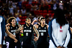 The New Zeland players dancing The Haka during FIBA Basketball World Cup 2014 group C between United States of America vs New Zeland  on September 02, 2014 at the Bilbao Arena stadium in Bilbao, Spain. Photo by Nacho Cubero / Power Sport Images