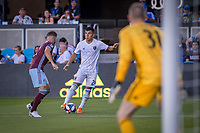 SAN JOSÉ CA - JULY 27: Nick Lima #24 during a Major League Soccer (MLS) match between the San Jose Earthquakes and the Colorado Rapids on July 27, 2019 at Avaya Stadium in San José, California.