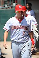 Harrisburg Senators infielder Jose Lozada (7) during game against the Trenton Thunder at ARM & HAMMER Park on July 31, 2013 in Trenton, NJ.  Harrisburg defeated Trenton 5-3.  (Tomasso DeRosa/Four Seam Images)