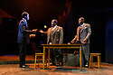 """London, UK. 01.11.2019. The West End transfer of the Young Vic prodution of Arthur Miller's """"Death of a Salesman"""", produced by Elliott & Harper Productions and Cindy Tolan, starring Wendell Pierce and Sharon D Clarke, begins its run at the Piccadilly Theatre in London, where it will run until 4th January 2020. Picture shows: Sope Dirisu (Biff), Wendell Pierce (Willy Loman), Natey Jones (Happy). Photograph © Jane Hobson."""