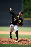 Pittsburgh Pirates pitcher Sergio Cubilete (28) delivers a pitch during a Florida Instructional League game against the New York Yankees on September 25, 2018 at Yankee Complex in Tampa, Florida.  (Mike Janes/Four Seam Images)