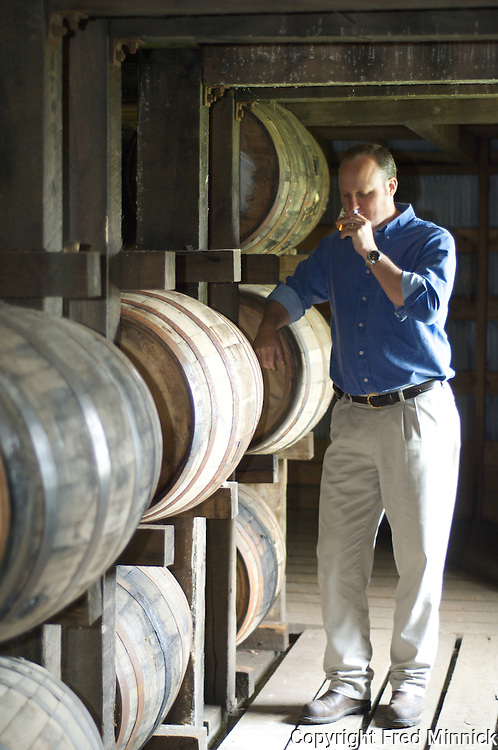 Master Distiller  Greg Davis of 1792 Ridgemont Reserve Bourbon at the Tom Moore Distillery in Bardstown, Ky.