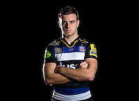 George Ford of Bath Rugby poses for a portrait in the 2015/16 home kit during a Bath Rugby photocall on December 1, 2015 at Farleigh House in Bath, England. Photo by: Patrick Khachfe / Onside Images