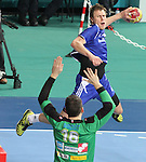 12.01.2013 Barcelona, Spain. IHF men's world championship, Quarter-Final. Picture show Daniil Shishkarev    in action during game between Russia vs Slovenia at Palau ST Jordi