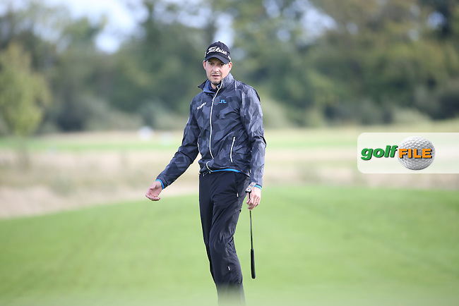 Simon THORNTON (IRL) three putts the final hole to finish runner-up during the final round of  The 106th Irish PGA Championship, at the Moy Valley Hotel & Golf Resort, Kildare, Ireland.  25/09/2016. Picture: David Lloyd | Golffile.