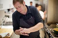 David Kinch in the BA Test Kitchen