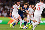 Seyed Ashkan Dejagah of Iran (L) fights for the ball with Osako Yuya of Japan (R) during the AFC Asian Cup UAE 2019 Semi Finals match between I.R. Iran (IRN) and Japan (JPN) at Hazza Bin Zayed Stadium  on 28 January 2019 in Al Alin, United Arab Emirates. Photo by Marcio Rodrigo Machado / Power Sport Images