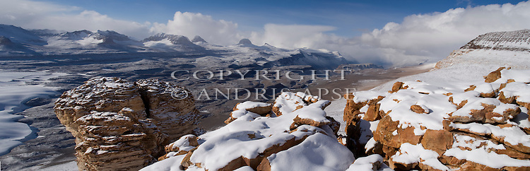 The Labyrinth and Dias from Mount Thor.  Wright Valley. Dry Valleys. Antarctica.