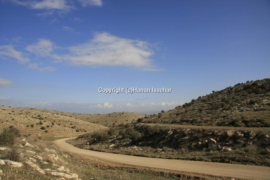 Israel, Shephelah, hills south of Moshav Shekef