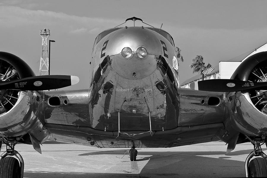 Vintage Aircraft in B&W - Fredricksburg Texas