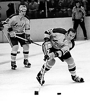 Seals Gary Jarrett and Gary Croteau against the RedWings...(1971 photo/Ron Riesterer)