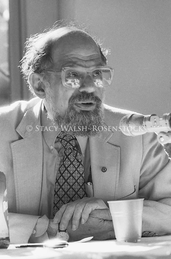 New York, NY May 1987 - Poet Allen Ginsberg (June 3, 1926 – April 5, 1997) at a panel discussion, St. Mark's in the Bowery