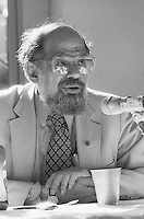 New York, NY May 1987 - Poet Allen Ginsberg (June 3, 1926 – April 5, 1997) at a panel discussion, St. Mark's in the Bowerie