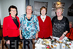 Marie Goodwin, Bridget Lehane, Marie Barron and Elizabeth Scanlon at the Red Cross Senior Citizens party in the Ashe Hotel on Sunday.
