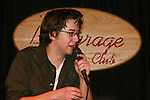 General Hospital's Bradford Anderson attends with Julie Berman at the Brokerage Comedy Club on February 21, 2009 in Bellmore, New York to see their fans as they sign and pose for photos, do a show for the fans and Bradford plays Simon Says with his fans. ALSO Bradford sang for all and he was great. (Photo by Sue Coflin/Max Photos)