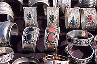 Tunesien, Djerba, Markt in Midoun, Silberschmuck