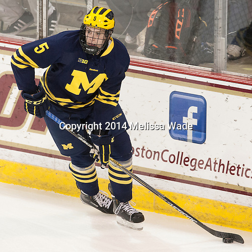 Michael Downing (Michigan - 5) - The Boston College Eagles defeated the visiting University of Michigan Wolverines 5-1 (EN) on Saturday, December 13, 2014, at Kelley Rink in Conte Forum in Chestnut Hill, Massachusetts.
