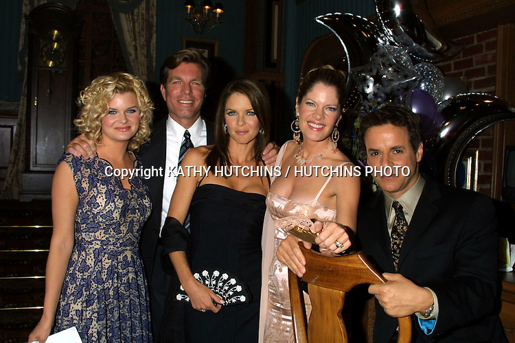©2003 KATHY HUTCHINS / HUTCHINS PHOTO.YOUNG AND THE RESTLESS SET.LOS ANGELES, CA.SEPTEMBER 3, 2003..HEATHER TOM.PETER BERGMAN.SUSAN WALTERS.MICHELLE STAFFORD.CHRISTIAN LE BLANC